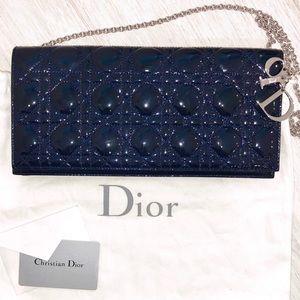 NEW Dior Lady Cannage Clutch/Shoulder Bag